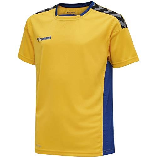 hummel Jungen hmlAUTHENTIC Kids Poly Jersey S/S Trikot, Sports Yellow/True Blue, 128