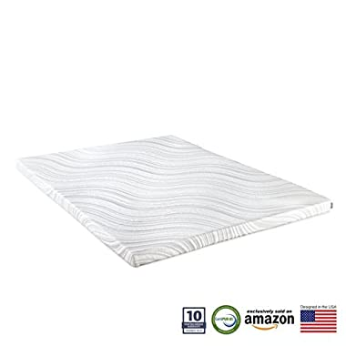 Perfect Cloud Lavender Memory Foam Mattress Topper 2-inch by (Queen) - Enjoy the Relaxing Scent of Lavender as you Sleep Combined with the Comfort of Memory Foam - NEW 2018 MODEL