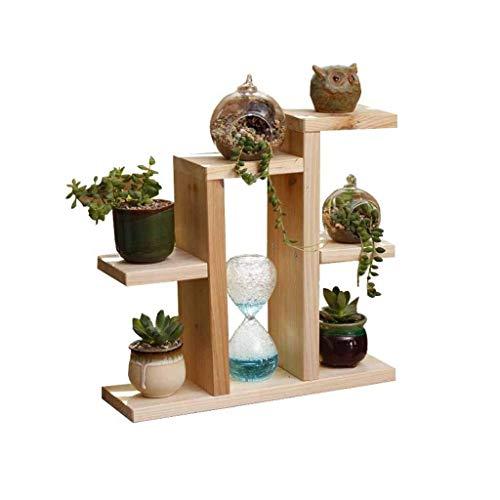Stojak na kwiaty stojaki na rośliny blat z litego drewna mały stojak na kwiaty wielopoziomowy prosty stojak na sukulenty balkon balkon wykusz doniczka półka na rośliny