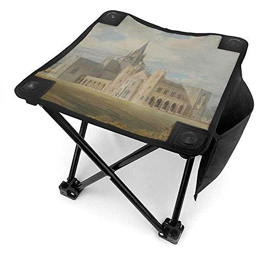 Ace Mate White Ancient Architecture Castle Camping Klappstuhl Retro Mini mit seitlicher Aufbewahrungstasche Outdoor Chair Ultra-Light für Handliche