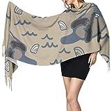 Kawaii Smart Otter Animal Soft Scarf Women Shawl Wrap Lady Shawl Wrap 77'x27 / 196x68cm Large Pashmina Soft Extra Warm