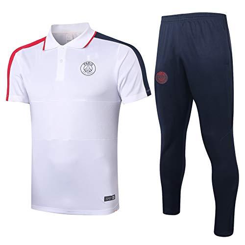 Alvnd Hombres Paris Casual Manga Corta Polot-Camiseta Club de fútbol Camisa Deportiva Tenis Golf Clásico Ropa de Secado rápido (Color : B, Size : XXL)