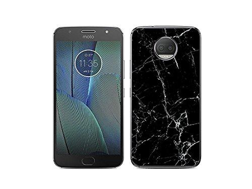 etuo Handyhülle für Motorola Moto G5s Plus - Hülle Fantastic Hülle - Schwarze Marmor - Handyhülle Schutzhülle Etui Hülle Cover Tasche für Handy