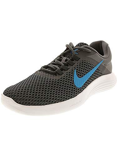 Nike Men's Lunarconverge 2 Dark Grey/Neon Turquoise - Anthracite Ankle-High Mesh Running Shoe 10.5M