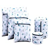 Mesh Wäschesäcke,Premium-Wäschenetze Wäschebeutel Wäschesack Haltbarer Netz-Wäschebeutel mit Reißverschluss für empfindliches, Bluse, Strumpfwaren, BH, Unterwäsche, Socken und Reisetasche(5 Stück)