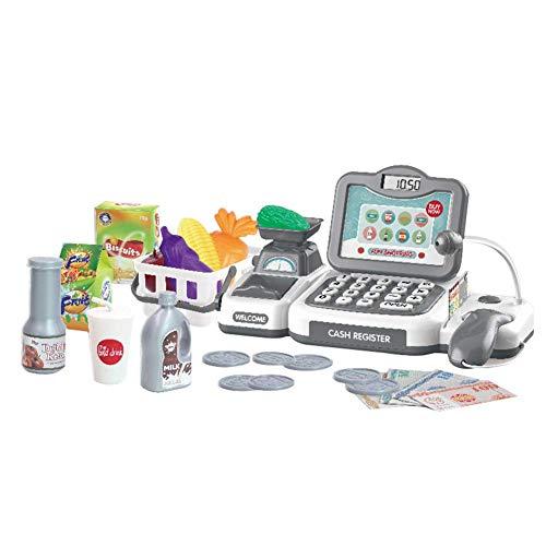 Ganquer Kids Cash Register doen alsof spelen supermarkt winkel tot speelgoed met rekenmachine, kinderen rol spelen speelgoed