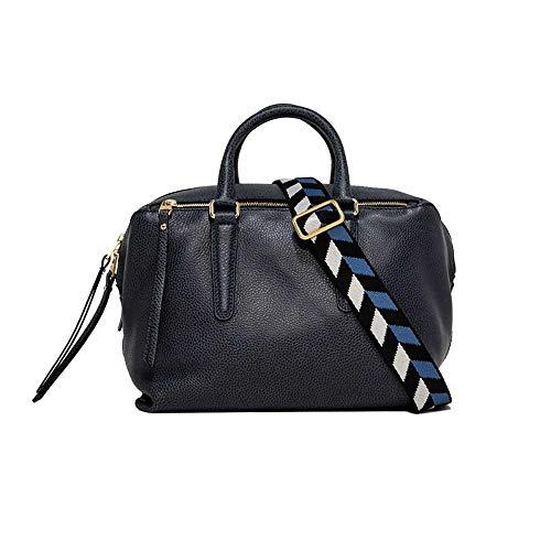 Gianni CHIARINI Bolso 7491 baúl piel martillada color azul vaqueros con...