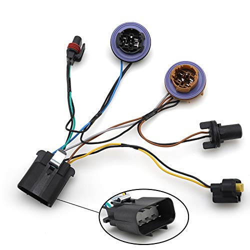 Headlight Socket Wiring Harness For 2007-2014 Chevy Tahoe Suburban Avalanche GM SUV Right & Left Set Replace 15950809