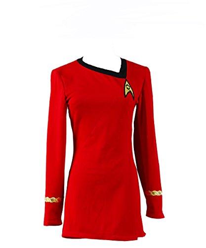 Fuman Sternenflotten Uniform Kleid TOS Kostüm Rot Damen XXXL