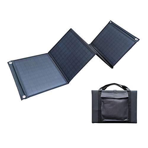 Panel Solar Plegable De 100 Vatios, Energía Móvil De Viaje, Bolsa Plegable Solar De Energía Al Aire Libre, Panel Solar con Controlador De Salida Dual USB + DC