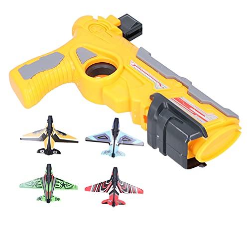 Kinderen Vliegtuig Speelgoed, zweefvliegtuig Vliegtuig Speelgoed Vliegtuig Launcher Speelgoed Schokbestendig Kinderen Zweefvliegtuig Speelgoed voor Voordeur voor Yard((Orange))