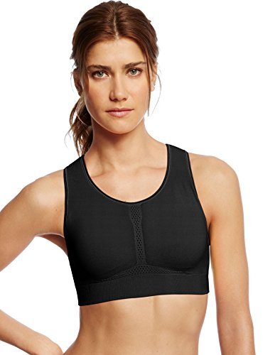Champion Women's Infinity Shape Sports Bra, Black, XL