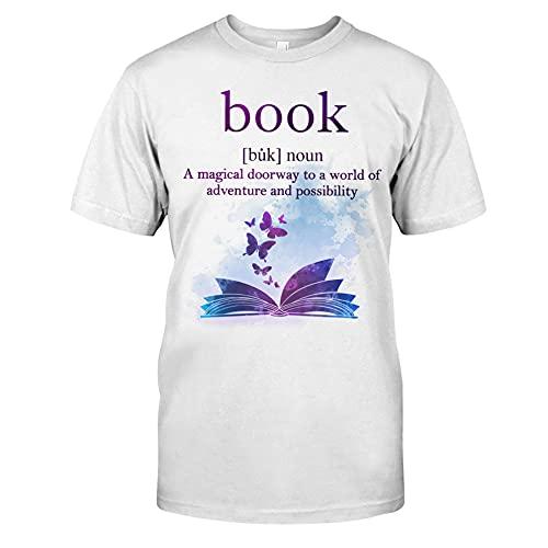 A Magical Doorway - Camisa de lectura, regalos para lectores, camiseta de libro, camiseta sobre la lectura, camiseta, blanco, XL