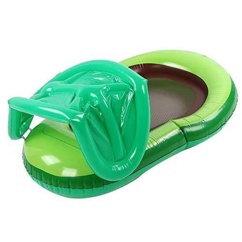 Colchoneta inflable para piscina, material de PVC cómoda fila flotante estable, fila flotante de aguacate, para piscina interior y exterior