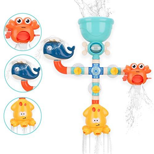 BBLIKE Badespielzeug Set, Spielerpass für Badewanne, Water Works Pipes Badewannenspielzeug für Kinder ab 18 Monate