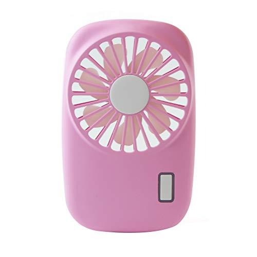 USB Ventilator Tischventilator Ventilator,Mini USB angenehmes Betriebsgeräusch Kameraform Design stufenlos schalten Einstellbare Geschwindigkeiten, einfach mitzunehmen auch für Büro (pink)