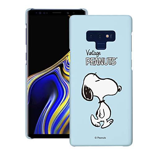 Galaxy Note9 ケース と互換性があります Peanuts Snoopy ピーナッツ スヌーピー ハード ケース/艶消しの硬い スリム スマホ カバー 【 ギャラクシー ノート9 ケース 】 (鮮やか スヌーピー 歩く) [並行輸入品]