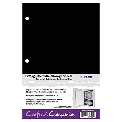 Crafter's Companion SS30-3 Ezmagnetic Stanzlings Mini Speicherplatten Magnetische 25.3 x 16.7 x 0.4 cm Weiß 3 Pack-White, Magnetic, 3