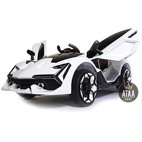 Coche eléctrico para niños Grande batería 12v con Mando ATAA F1 Racing - Blanco