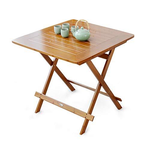 mesa plegable, Mesa De Camping De Bambú para Barbacoa Al Aire Libre...