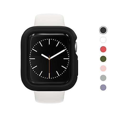 RhinoShield Bumper Case kompatibel mit Apple Watch Series 4/5 - [40 mm] | CrashGuard NX - Stoßabsorbierende Dünn Designte Schutzhülle 1.2M Fallschutz - Schwarz