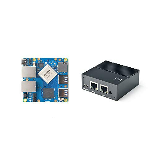 FriendlyElec Nanopi R4S Mini Router OpenWRT with Dual-Gbps Ethernet Ports 4GB LPDDR4 Based in RK3399 Soc for IOT NAS Smart Home Gateway