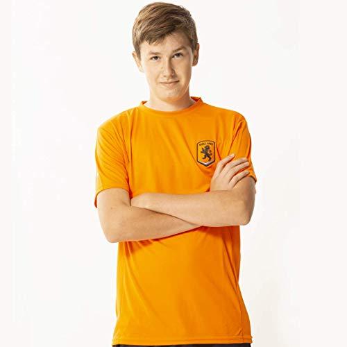 Oranje heren t-shirt - 100% polyester - Holland shirt senior - Nederlands elftal - maat L