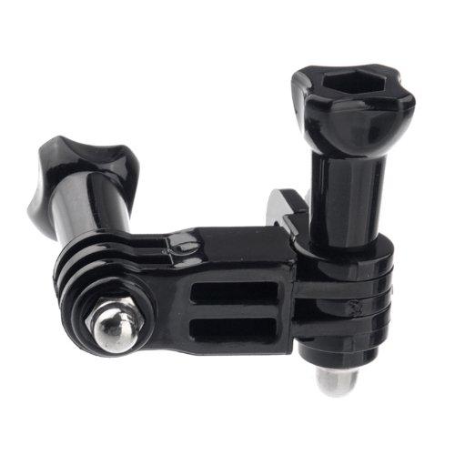 douself tre vie regolabile Arm Pivot per Gopro Eroe 1 2 3 3 + macchina fotografica ST-15 nero