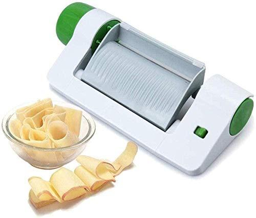 Elxf Cortador de alimentos, cortador de queso, rallador ajustable, cortador de verduras, para cocina, tomate, patatas, frutas, verduras y manzanas