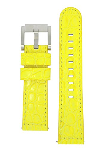 TW Steel Marc Coblen Armband Uhrenband Uhrenarmband Leder 22 MM Kroko Gelb LB_Y_K_S