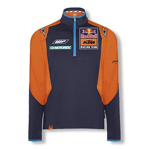 Red Bull KTM Official Teamline Thin Sweater, Blau Herren Medium Sweatshirt, KTM Racing Team Original Bekleidung & Merchandise