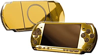 Gold Chrome Mirror Vinyl Decal Faceplate Mod Skin Kit for Sony PlayStation Portable 3000 Console by System Skins