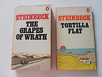 the grapes of wrath and Tortilla Flat by John Steinbeck  paperbacks