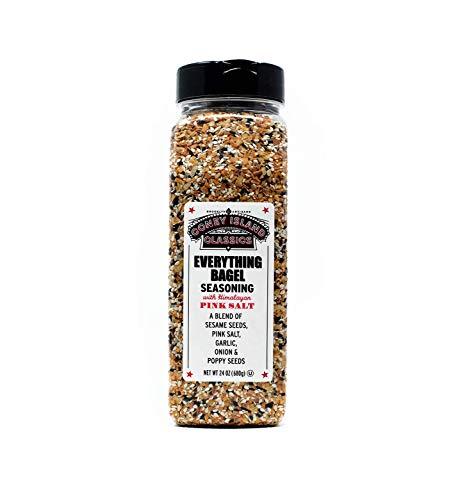 Everything Bagel Seasoning Premium Spice Blend With Pink Himalayan Salt Sesame Seeds Onion Garlic And Poppy Seed Bulk Shaker Gluten Free Keto And Paleo 24 Oz