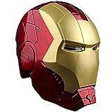 PRETAY Iron Man Casco Máscara Luminosa, Marvel Avengers Plástico Máscaras Faciales Máscaras Cascos Película De Halloween Cosplay Accesorios De Disfraces
