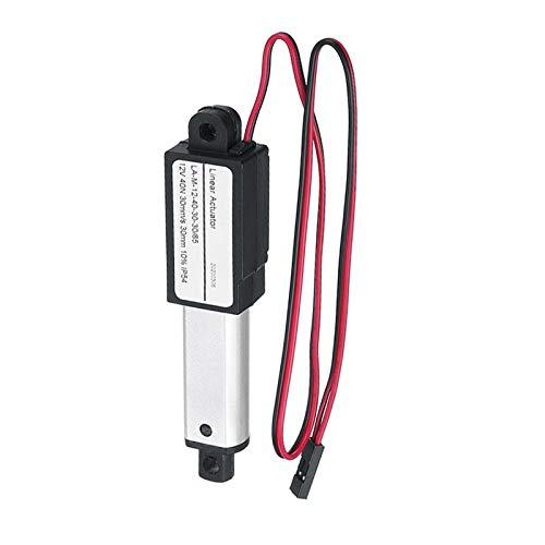 DEFTSHEEP 1 unid aleación de aluminio 1500N 30 mm Accionator de 30 mm Accionadores lineales lineales DC 12V Mini Motor lineal eléctrico 30 mm/s 15mm / s 9.5mm / s (Color : 9.5mm)