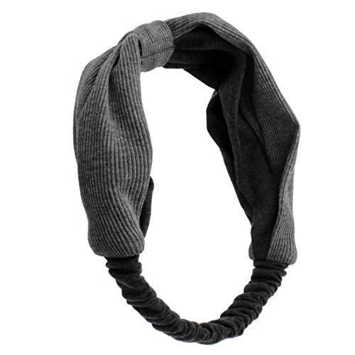 274 – 709 – Bandeau pour cheveux maglina largeur cm environ 7 et 15 cm de diamètre – Bandeaux pour Cheveux gris foncé