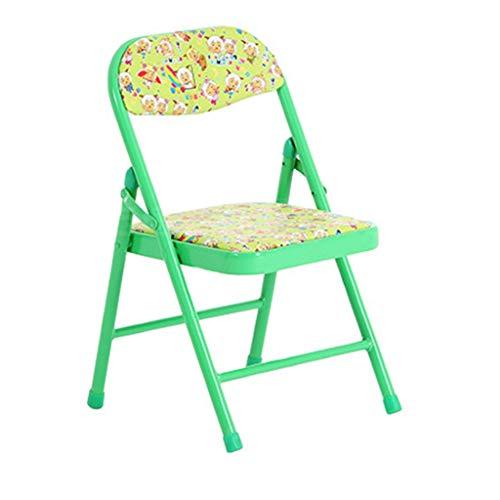 KKCD-Krukken Kinderstoel, stapelbare kleine bank, PU-kussen, draagbare rugleuningsstoel gevoerde kussen gemakkelijk op te bergen vouwkruk