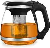1500 ml große Kapazität hitzebeständige Glas-Teekanne mit Edelstahlfilter