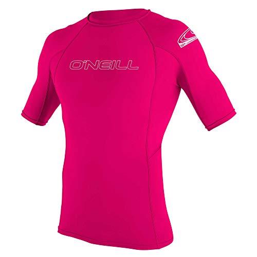 ONEILL WETSUITS O'Neill - Camiseta de Neopreno Juvenil con protección UV, Manga Corta, Cuello Redondo Rosa Rojo sandía Talla:4