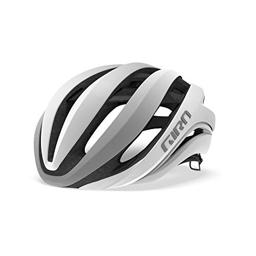 Giro Aether MIPS Casque Route Unisex-Adult, Matt White/Silver, M 55-59cm