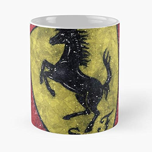 5TheWay F Ferrari Team Mug Best 11 oz Kaffeebecher - Nespresso Tassen Kaffee Motive