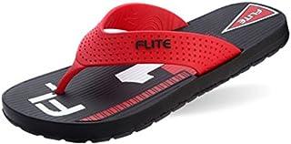 Flite Men's Black and Red House Slippers (FL-196)