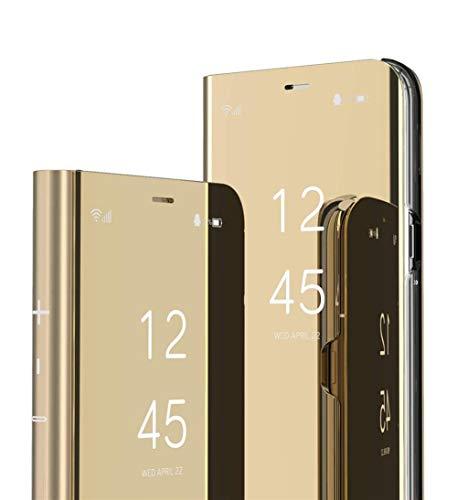 DG.MING Espejo Inteligente Funda para Xiaomi Redmi S2 Funda Espejo Ultra Slim Brillante Standing Mirror Flip Caso Clear View Case Cover