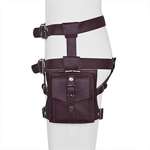 CaoDquan Sac Banane Multifonctionnel Sports de Plein air Cyclisme Leg Paquet Waist Pack Pochette de Course (Color : Brown, Size : One Size)