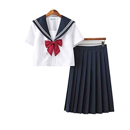 UKKD Cosplay Anime JK Uniforme School Girl JK Uniform Women Chorus Performance Breve Manica Lunga Manica Lunga Uniformi Sailor Anime Pure E Lovely-Combination 3,L