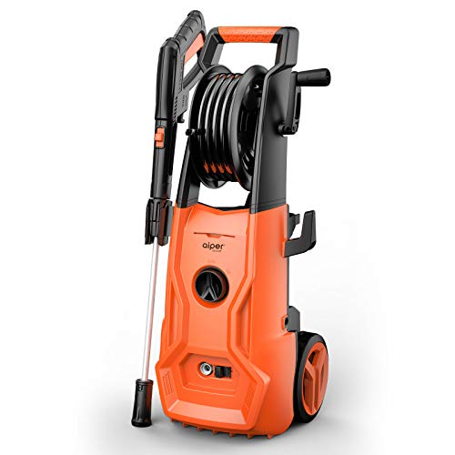 AIPER SMART Compatible for AIPER Pressure Washer 2150 PSI 1.85 GPM Electric Power Washer 1800W High Pressure Washer with Adjustable Nozzle,Hose Reel for Driveways, Patios and Washing Vehicles