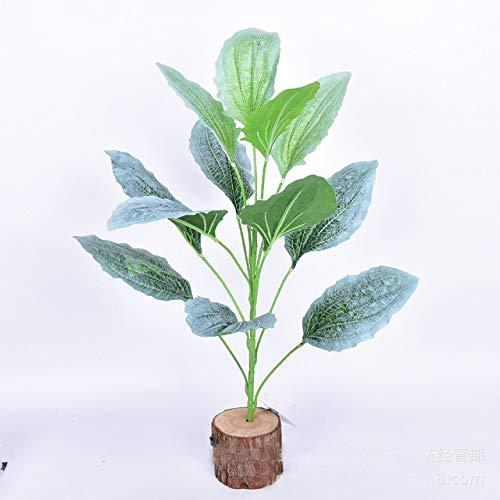 XGP Künstliche Pflanzen, natürliches Aussehen, grüne Kunststoff-Pflanzen, Dekoration für Zuhause, Garten, nordischer Stil, lebensechte Kunstpflanzen, ohne Holztopf, Grün