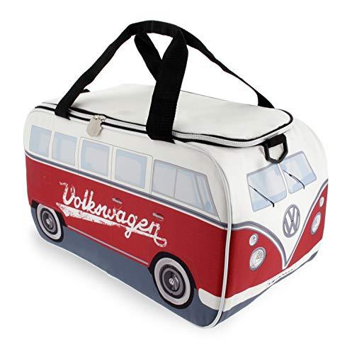 BRISA VW Collection - Volkswagen Bulli Bus T1 Kühltasche 25 Liter (Motiv: Weiß/Rot)