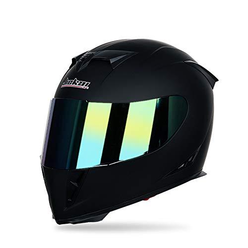 Motorrad Modular Full Face Helm Flip hoch Dual Visier Sun Shield, Persönlichkeit Clown Malerei Dirt Bike Vier Jahreszeiten Motorrad Racing Helm,Black,M